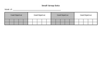 Small Group Data Sheet