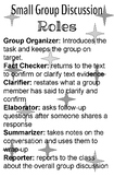 Small Group Discussion Roles Classroom Poster