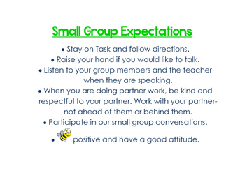 Small Group Expectations