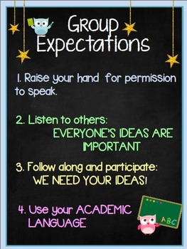 Small Group Expectations Poster