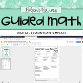 Small Group Guided Math Lesson Plan Template - Editable Go