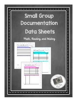 Small Group Intervention Documentation Data Sheets