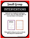 Small Group Intervention Forms