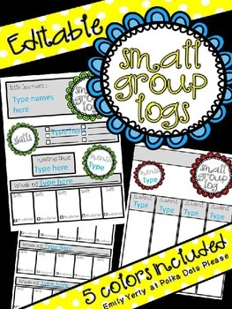 Small Group Intervention Log (completely editable)