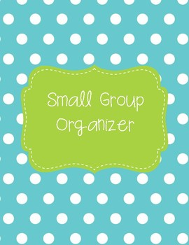 Small Group/ Intervention Organizer