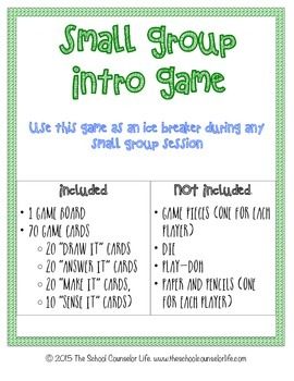Small Group Intro Board Game