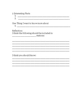 Small Group Journal Form