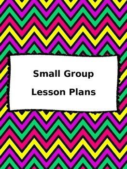Small Group Lesson Plan Binder Cover: EDITABLE!