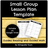 Small Group Lesson Plan Template
