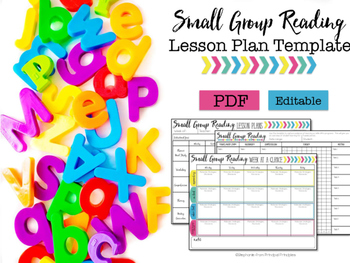 Small Group Lesson Plan Template- Editable | TpT