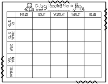 Small Group Lesson Planner FREEBIE