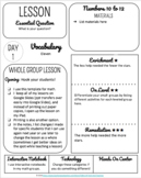 Small Group Lesson Template