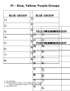 Small Group Lists