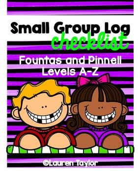 Small Group Log Checklist
