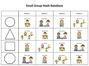 Small Group Math Grid