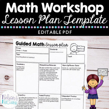 small group math lesson plan template by nelson 39 s notions tpt. Black Bedroom Furniture Sets. Home Design Ideas