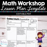 Small Group Guided Math Lesson Plan Template - Freebie