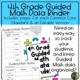 4th Grade Guided Math Data Binder