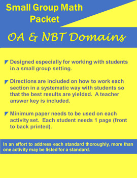 Small Group Math OA & NBT Fifth
