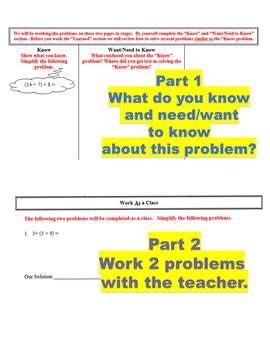 Small Group Math OA & NBT Fifth