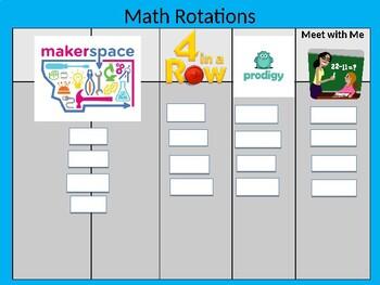 Small Group Math Organizational Tool
