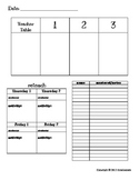 Small Group Math Planner