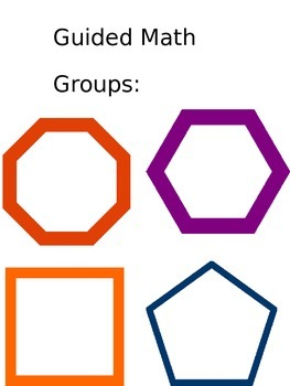 Small Group Math Rotations/Guided Math Centers Organization