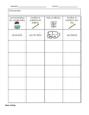Small Group New Vocab Recording Sheet Spanish