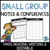 Small Group Notes & Conferencing (EDITABLE)