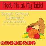 Small Group November ~ Meet Me At My Table