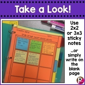 Small Group Observation Notes Data Tracker
