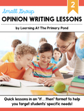 Small Group Opinion Writing Lessons for Second Grade