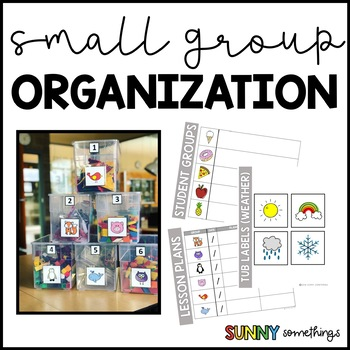 Small Group Organizers: Labels, Student Groups, and Lesson Plan Pages