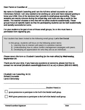 Small Group Permission Form