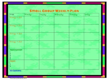 Small Group Planning Sheet