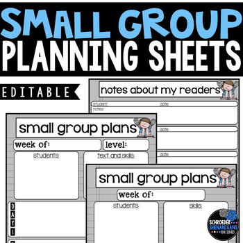 mall Group Planning Sheets - Editable