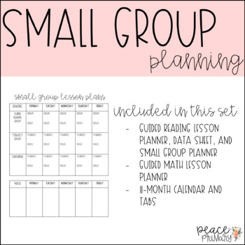 Small Group:: Planning and Data Binder