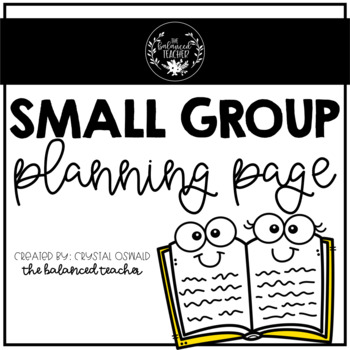Small Group Planning page