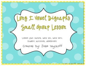 Small Group Plans: Long I Patterns