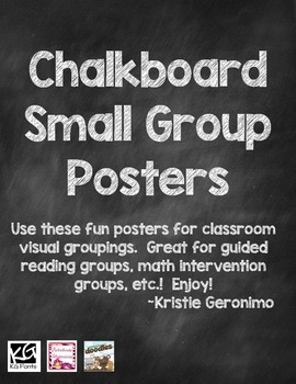 Small Group Posters