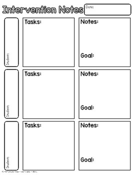 Small Group Printable Notesheets