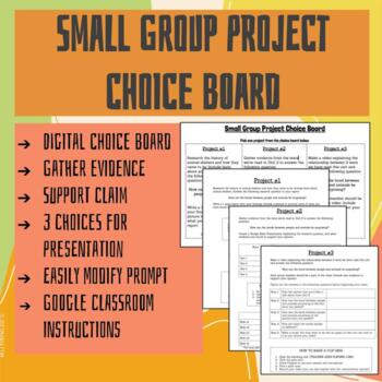 Small Group Project Choice Board