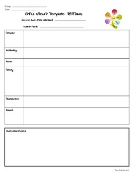 Group RTI Special Education Lesson Plan Template - Lesson plan template special education