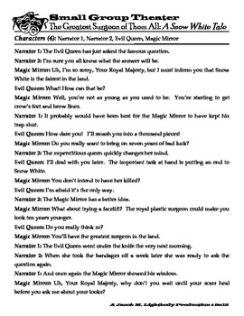 Small Group Readers Theater (Snow White-Script)