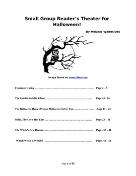 Small Group Reader's Theater for Halloween