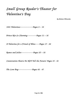 Valentines Day Pack:Reader's Theater for Small Groups and Literacy Centers