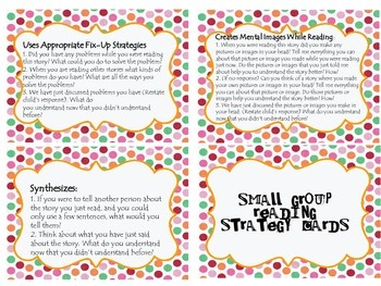 Small Group Reading Cards & Assements