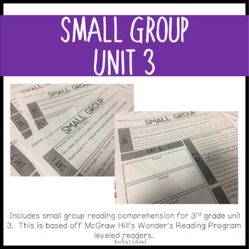 Small Group Reading Comprehension {Unit 3}