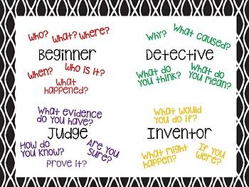 Small Group Reading Conversation Posters