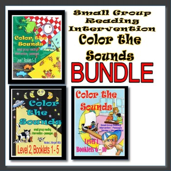 Small Group Reading Intervention, COLOR THE SOUNDS!, BUNDLE